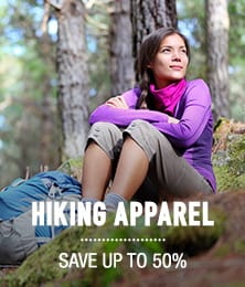 Hiking Apparel - save up to 50%