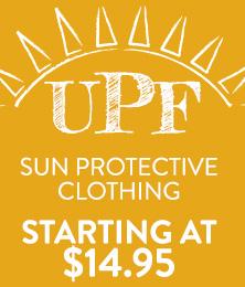 UPF Clothing - starting at $14.95
