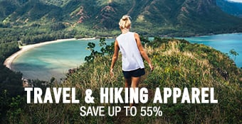 Travel/Hiking Apparel - save up to 55%