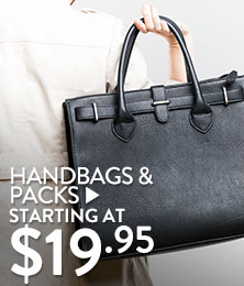 Handbags & Packs - starting at $19.95