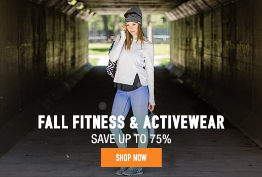 Fall Fitness & Activewear - save up to 75%