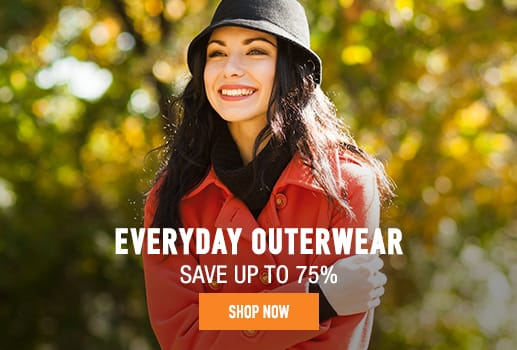 Everyday Outerwear - save up to 80%