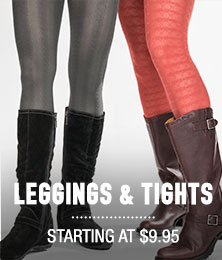 Leggings & Tights - starting at $9.95