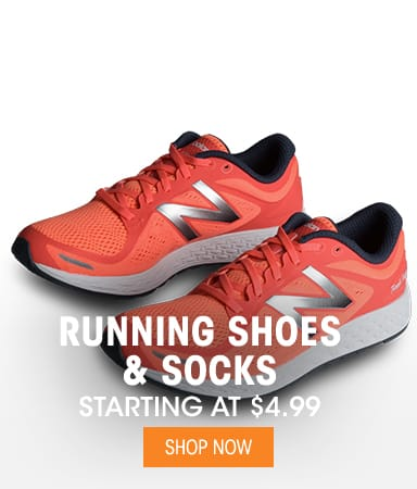 Running Shoes & Socks - Starting at $4.99