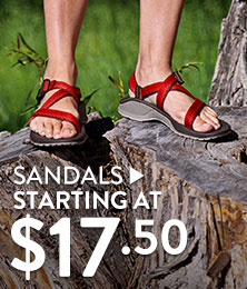 Sandals  - starting at $17.50