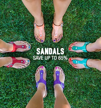 Sandals - save up to 65%
