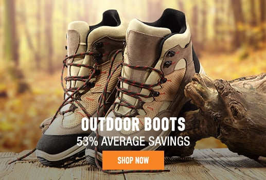 Outdoor Boots - 53 average savings
