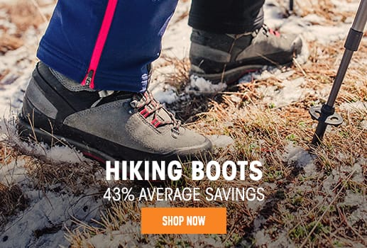 Hiking Boots - 43% average savings