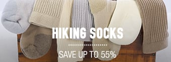 Hiking Socks - save up to 55%